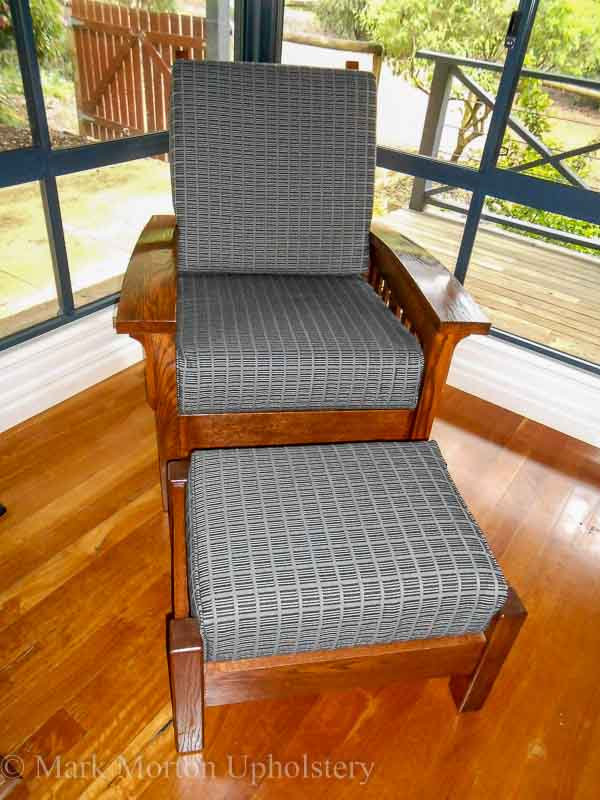 Morris Chair after upholstering