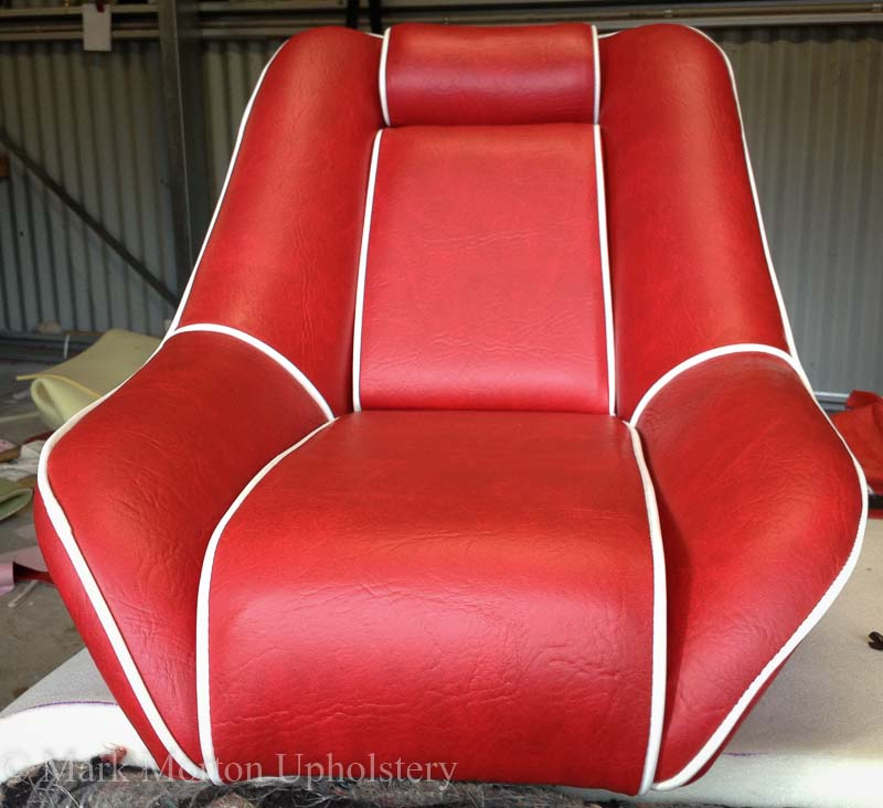Boat seat upholstery finished 2