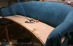 Blue sofa upholstery in progress 2