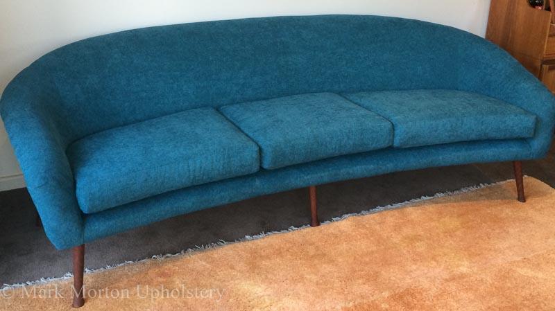 Blue sofa finished