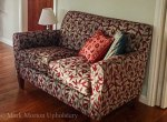 Love seat upholstery finished