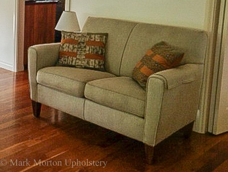 Sofa before photo